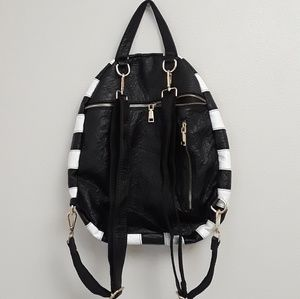 Black and White Striped back pack